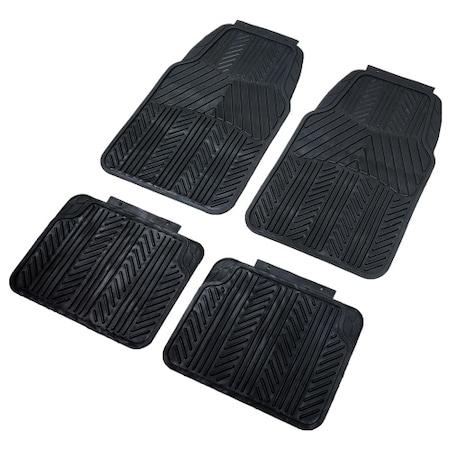 Homasita univerzális PVC autószőnyeg szett, vágható, 4 darab, Fekete