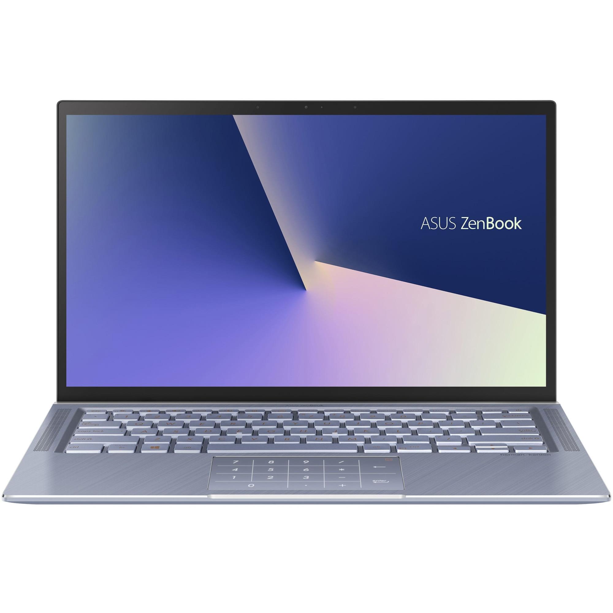 "Fotografie Laptop ultraportabil ASUS UX431FA cu procesor Intel® Core™ i7-8565U pana la 4.60 GHz Whiskey Lake, 14"", Full HD, 8GB, 256GB SSD, Intel® UHD Graphics 620, Endless OS, Utopia Blue Metal"