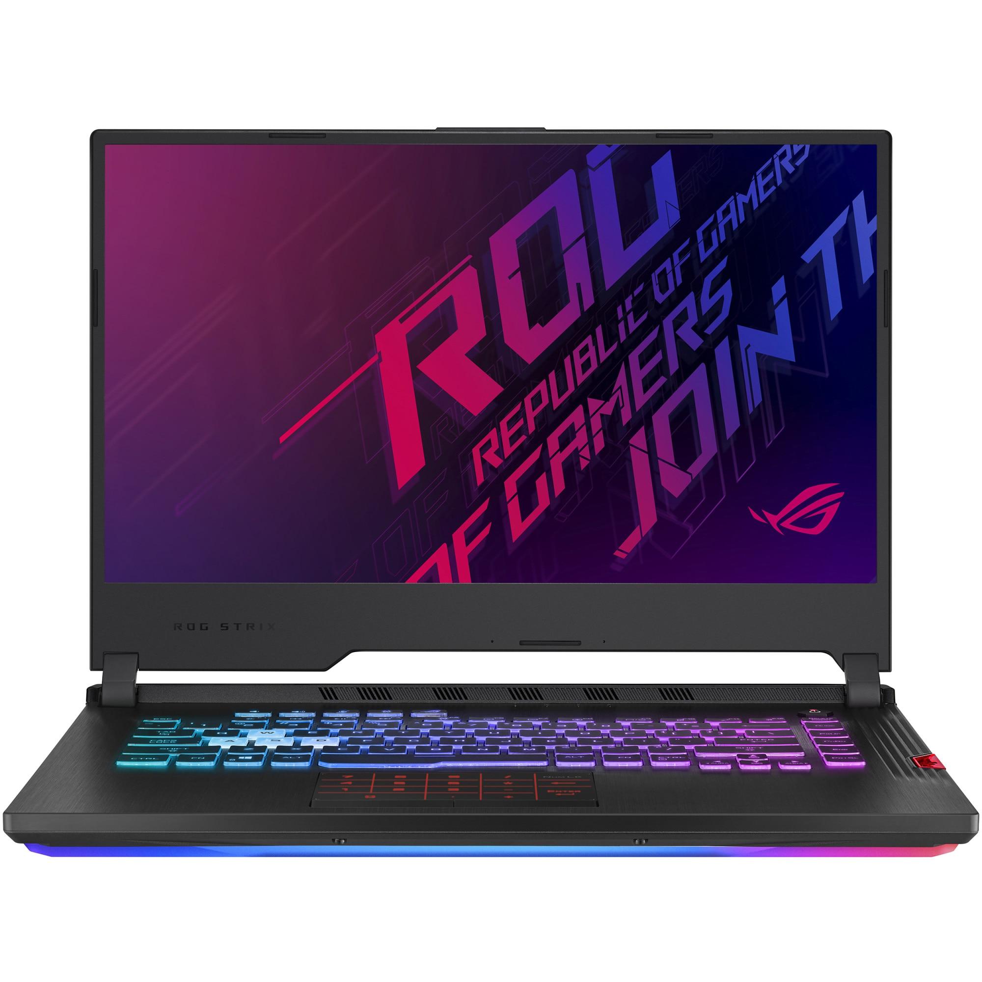 "Fotografie Laptop gaming ASUS ROG Strix Hero III G531GV cu procesor Intel® Core™ i7-9750H pana la 4.50 GHz Coffee Lake, 15.6"", Full HD, IPS, 240Hz, 16GB, 512GB SSD, NVIDIA® GeForce RTX™ 2060 6GB, Free DOS, Midnight Black"