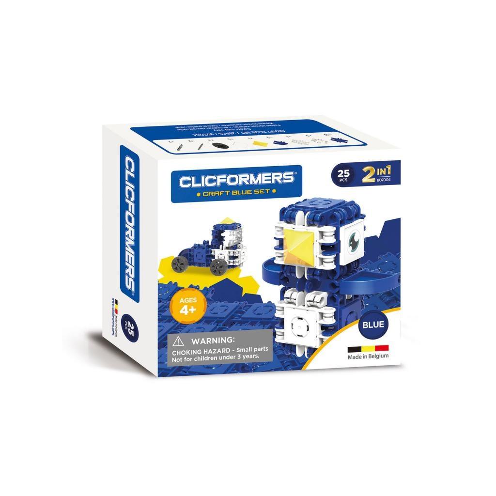 Clicformers 535681 Kék építő készlet, 25 db-os - Clicformers ddgzVo