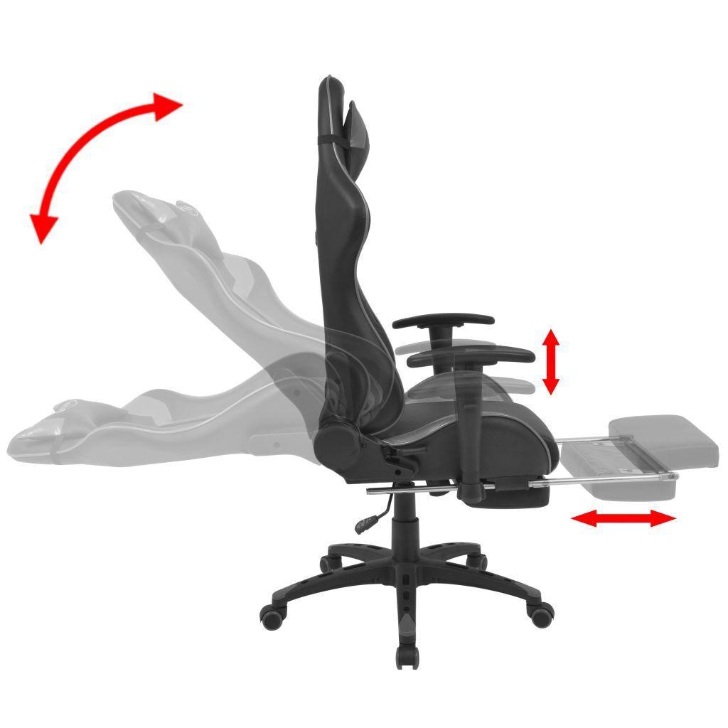 Regulowane krzesło biurowe z podnóżkiem, szare kup online