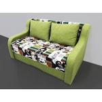 Двуместен диван Емиляно Мебел , габаритна дължина 140 см , с функция сън ,многоцветен