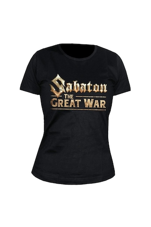 Tricou negru de dama, Sabaton, Great War, S