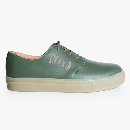 Pantofi barbati Lens, Bianca Georgescu, piele naturala, olive, 42 EU