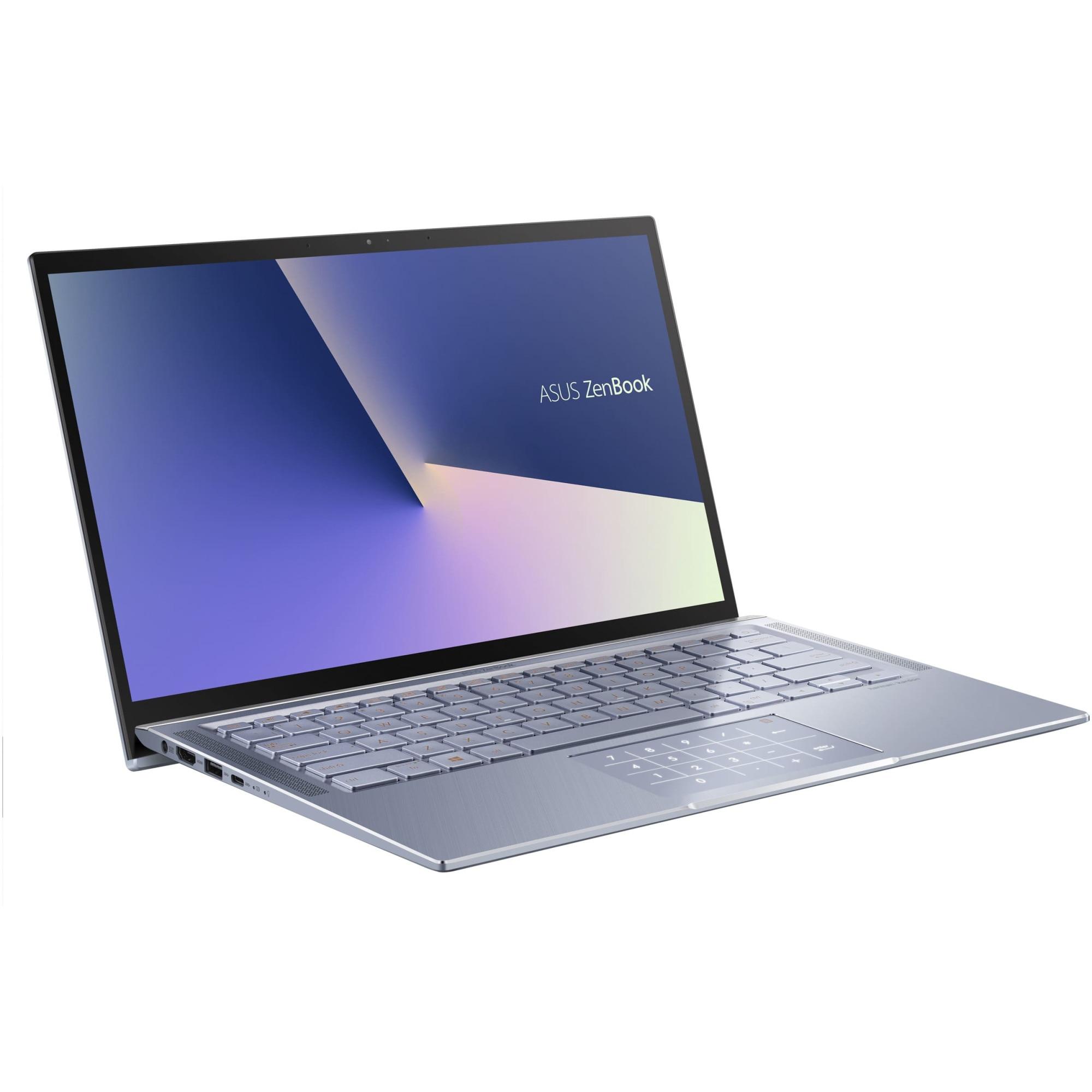 "Fotografie Laptop ultraportabil ASUS ZenBook 14 UM431DA cu procesor AMD Ryzen 5 3500U pana la 3.70 GHz, 14"", Full HD, 8GB, 512GB SSD, AMD Radeon™ Vega 8 Graphics, Endless OS, Utopia Blue Metal"