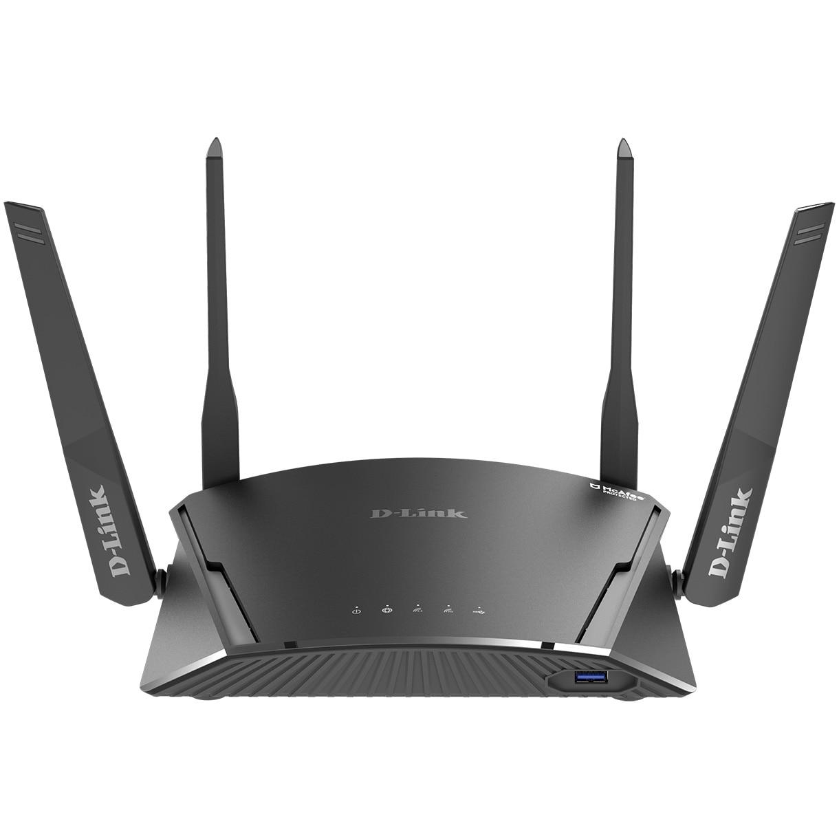 Fotografie Router wireless tip smart Mesh D-Link DIR-1960, AC1900, Dual-band