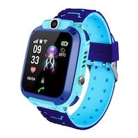 Детски Смарт часовник Smart Wear P12s, Сим карта и камера, LBS Tracking, Водоустойчив, Син