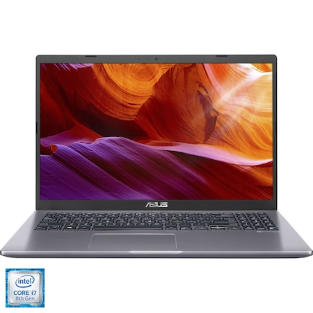 "Laptop ASUS X509FJ cu procesor Intel® Core™ i7-8565U pana la 4.60 GHz Whiskey Lake, 15.6"", Full HD, 8GB, 1TB HDD, NVIDIA GeForce MX230 2GB, Endless OS, Slate Gray"