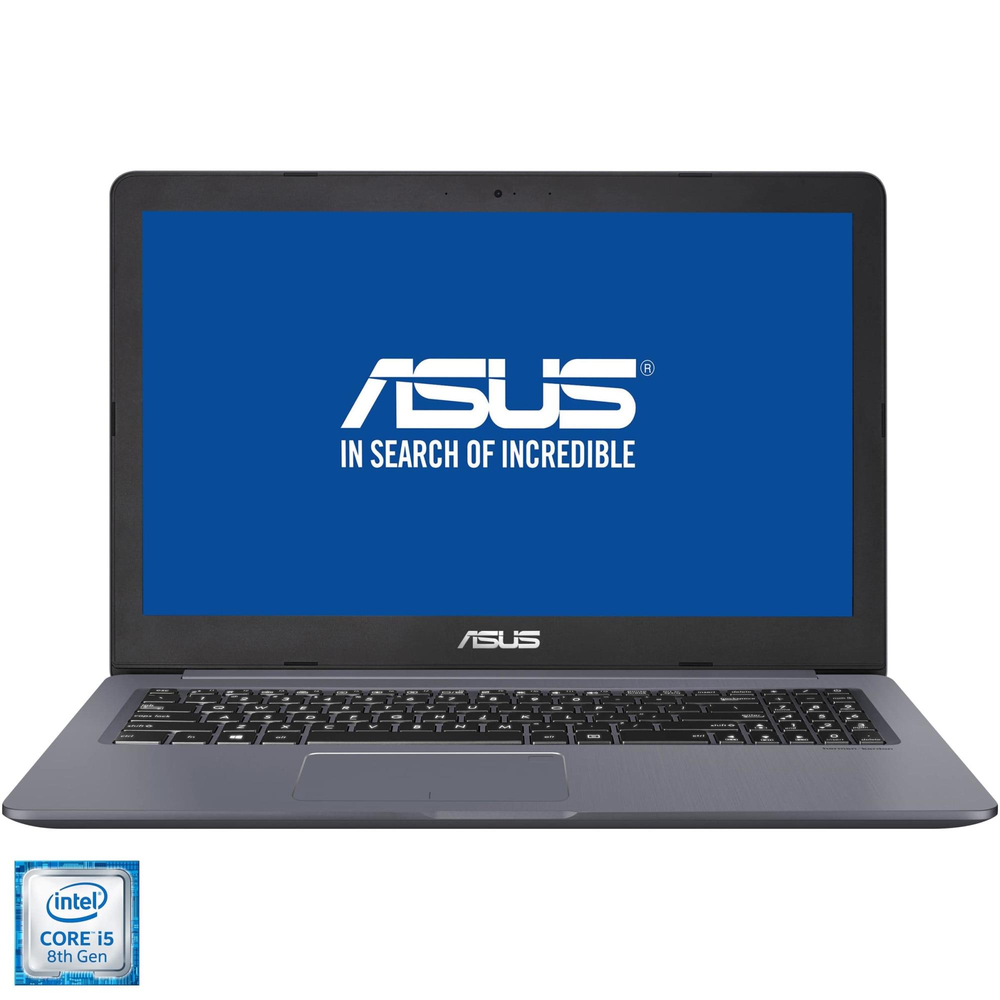 "Fotografie Laptop ASUS VivoBook Pro NX580GD cu procesor Intel® Core™ i5-8300H pana la 4.00 GHz Coffee Lake, 15.6"", Full HD, 8GB, 512GB SSD, NVIDIA GeForce GTX 1050 4GB, Endless OS, Grey Metal"