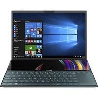 "Laptop Ultraportabil ASUS ZenBook Duo 14 UX481FL cu procesor Intel® Core™ i7-10510U pana la 4.90 GHz, 14"", Full HD, 16GB, 512GB SSD, NVIDIA GeForce MX250 2GB, Windows 10 Pro, Celestial Blue"