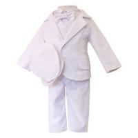 Lux hatrészes alkalmi pamutvászon öltöny, keresztelőruha - Herold (Fehér, 80 (12 hó))