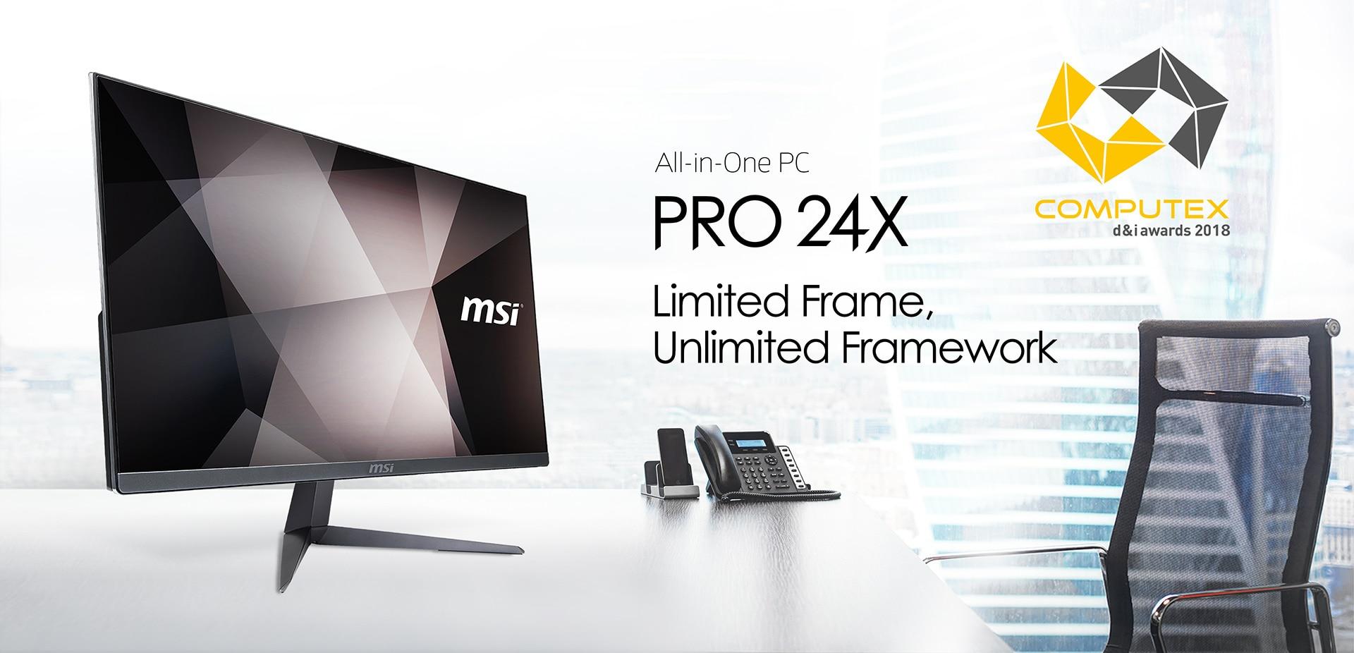 MSI Pro 24X 7M 223EU All in One Asztali számítógép, Intel