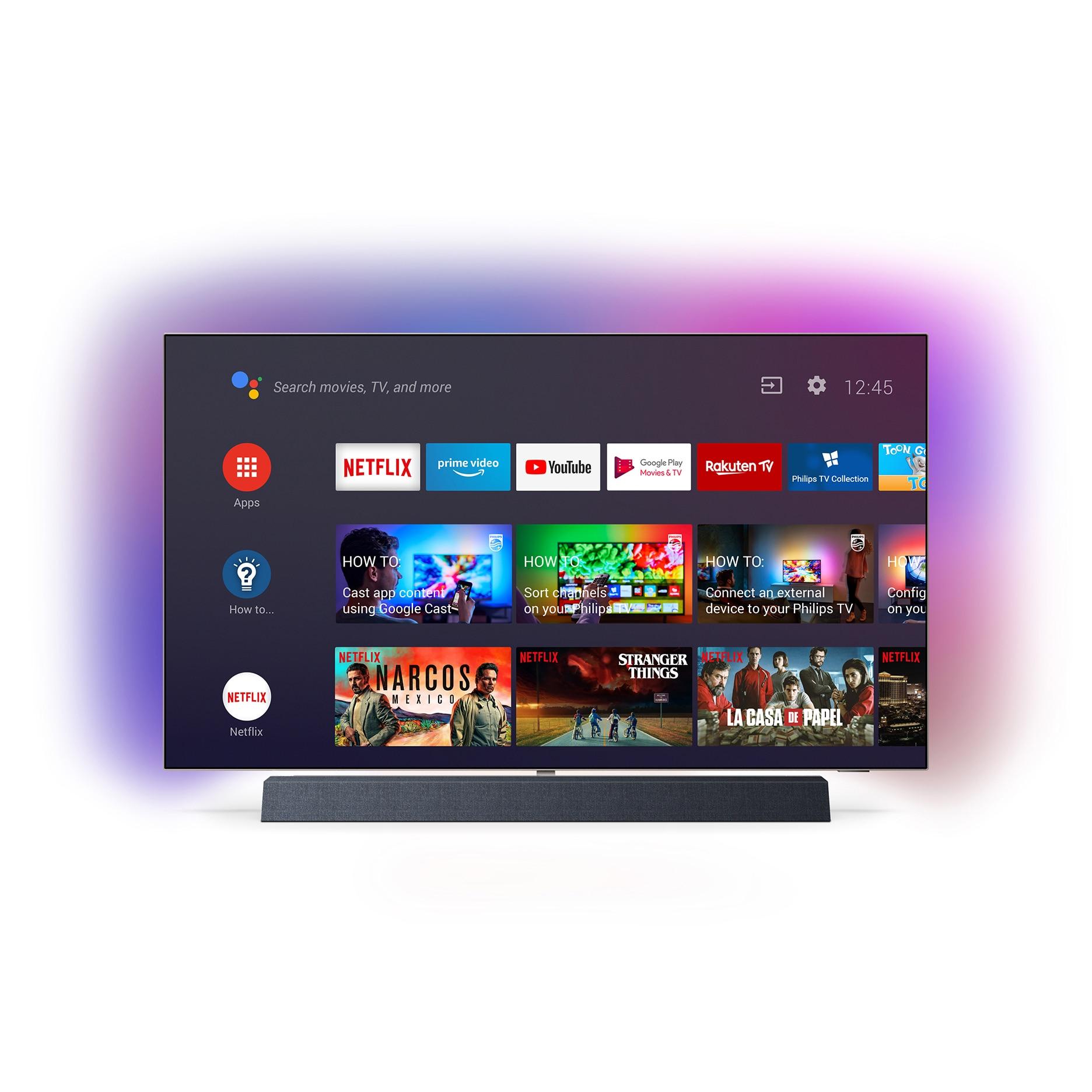 Fotografie Televizor OLED Smart Android Philips, 139 cm, 55OLED934/12, 4K Ultra HD, Clasa B