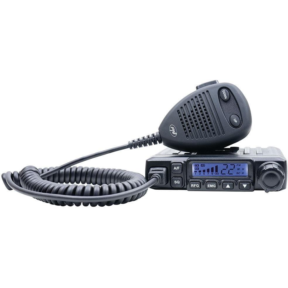 Fotografie Statie radio CB PNI Escort HP 6500, multistandard, 4W, AM-FM, 12V, ASQ, RF Gain, mufa de bricheta inclusa