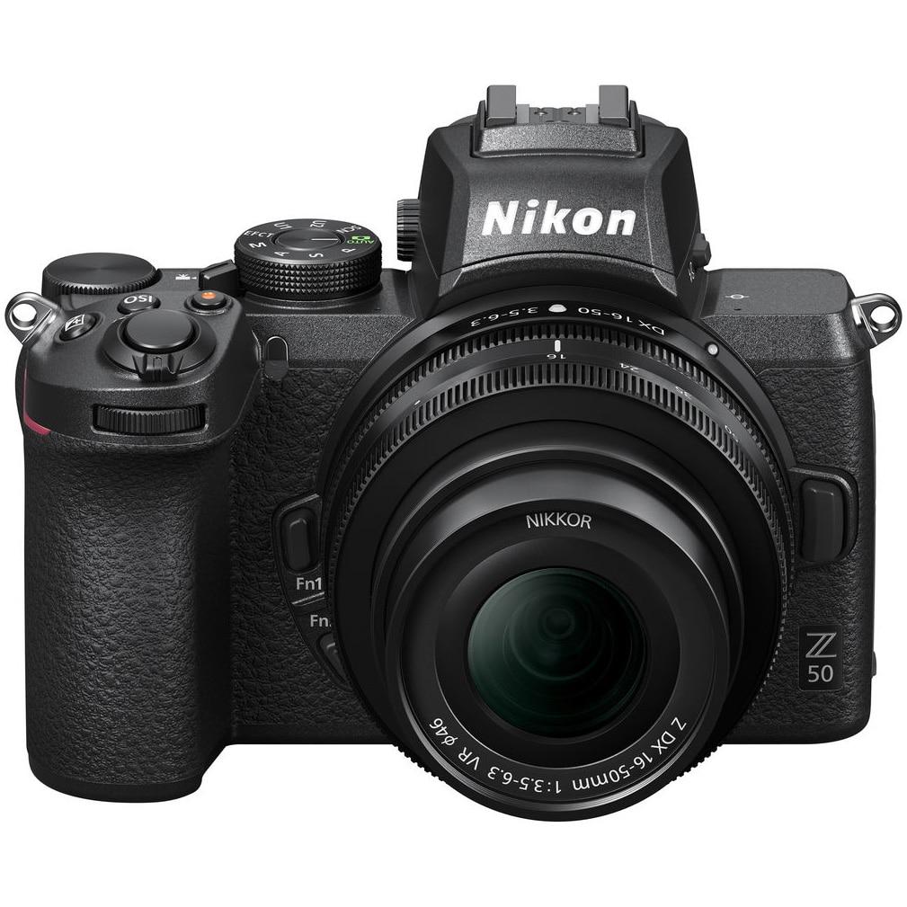 Fotografie Aparat foto Mirrorless Nikon Z50, 20.9 MP , 4K , Wi-Fi + Obiectiv 16-50mm, Negru