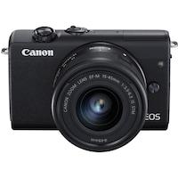 Фотоапарат Mirrorless Canon EOS M200, 24.1 MP, 4K, Черен + Обектив 15-45 мм