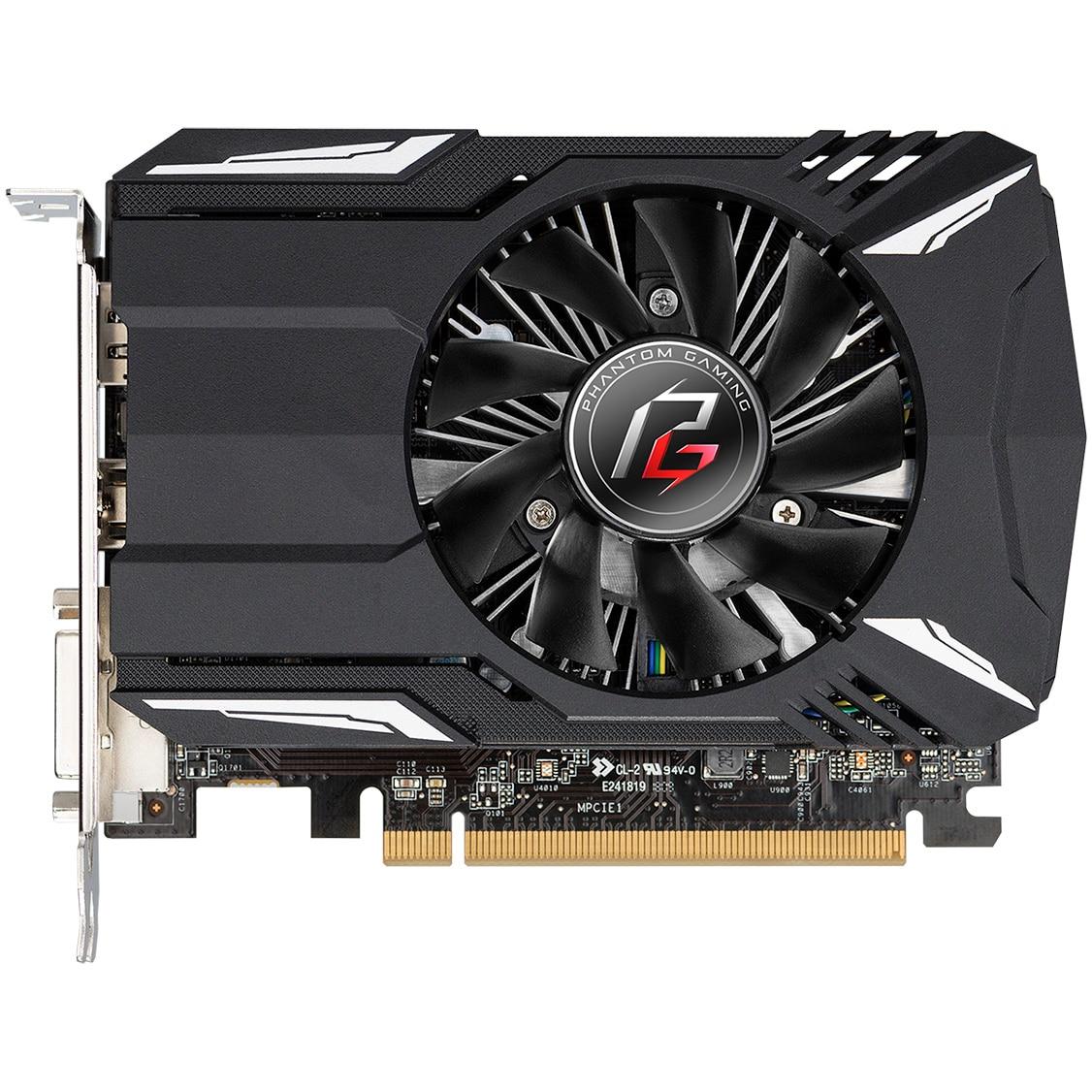 Fotografie Placa video ASRock Radeon™ RX 550 Phantom Gaming, 2GB GDDR5, 128 bit