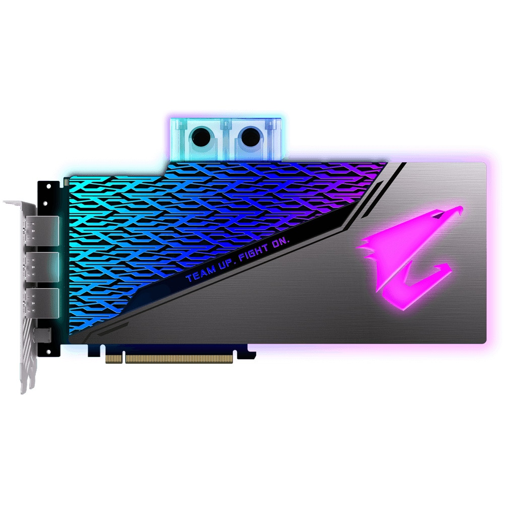Fotografie Placa video Gigabyte AORUS GeForce® RTX 2080 SUPER™ WATERFORCE WB, 8GB GDDR6, 256-bit