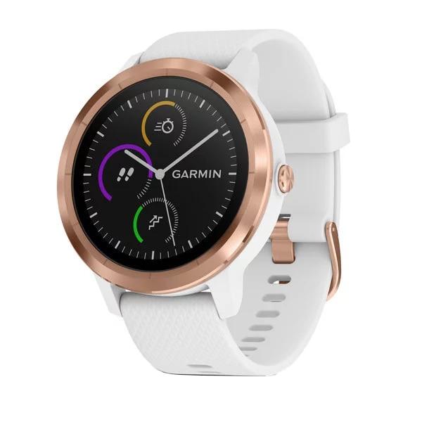 Fotografie Ceas smartwatch Garmin Vivoactive 3, HR, GPS, Rose, Silicone White