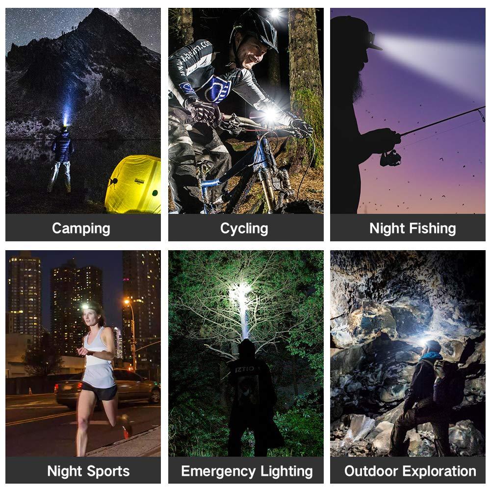 Lanterna de cap Premium cu 8 LED-uri cu Cap Impermeabil ,13000 Lm Lumina  Alb/Rosie Ideala Camping Ciclism Pescuit Alergat - eMAG.ro