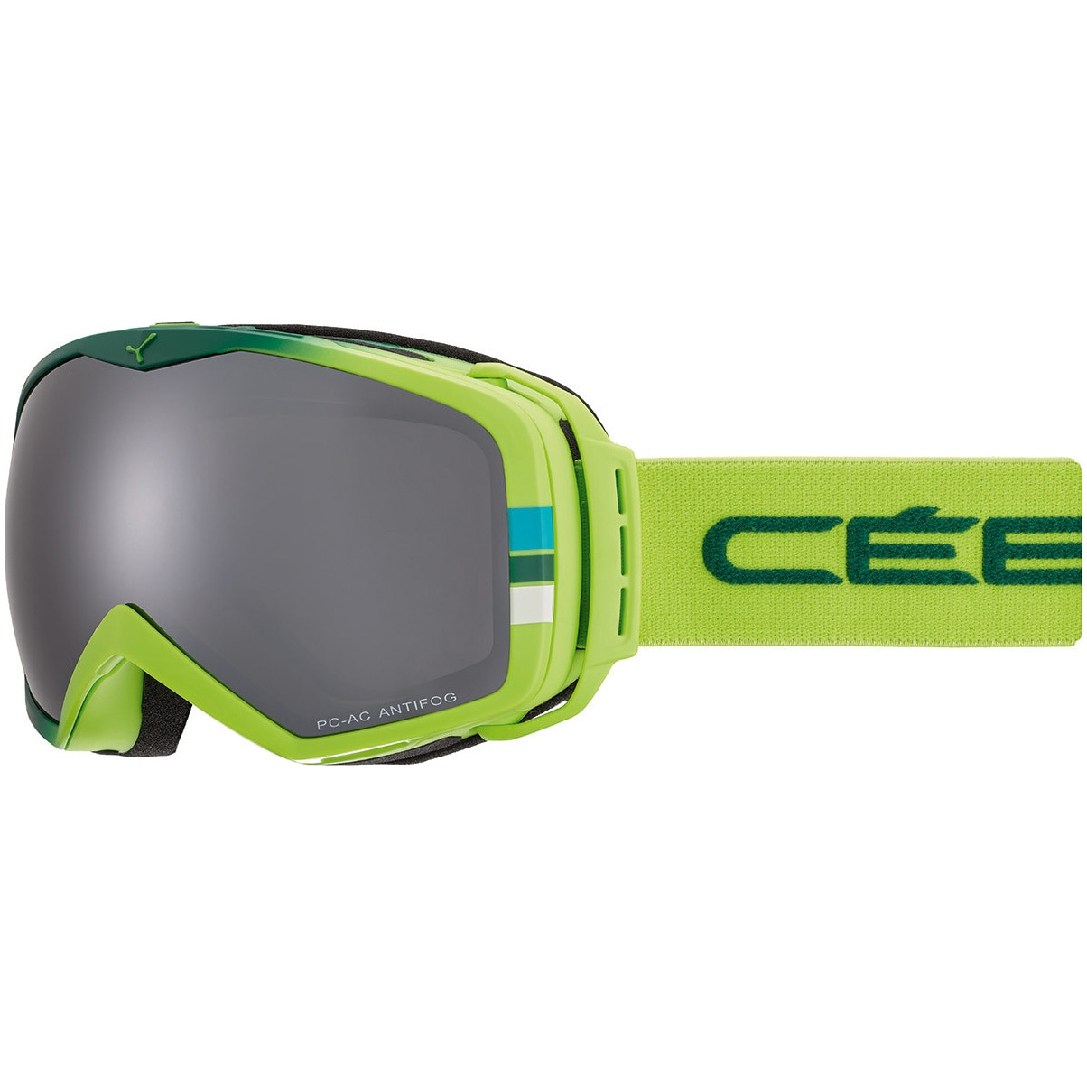 Fotografie Ochelari ski Cebe Flash Mirror Cat.3, Mat Green/Lime