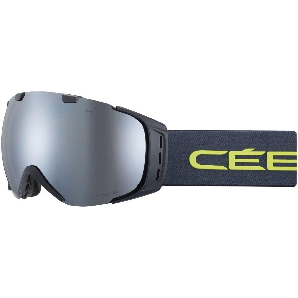 Fotografie Ochelari ski Cebe Flash Mirror Cat.3, Origins L Mat Black/Grey Lime