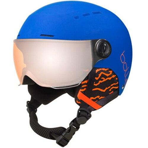 Fotografie Casca ski Bolle Quiz Visor CAT.2, Matte Blue/Orange, 49-52cm
