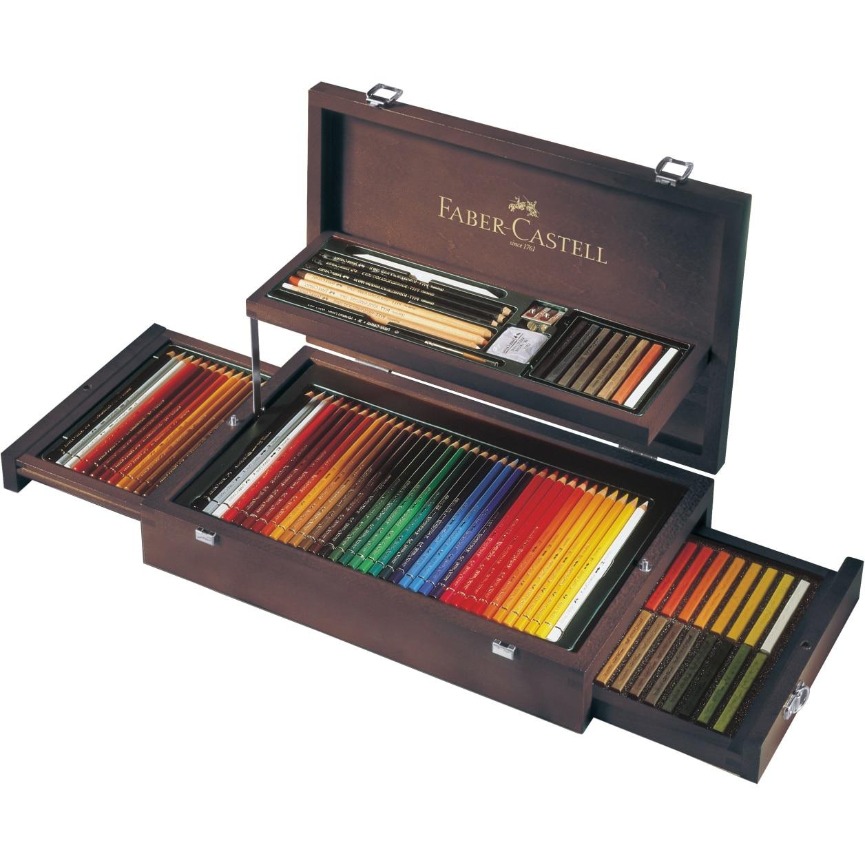 Fotografie Creioane colorate Faber-Castell Art&Graphic, 126 buc, cutie de lemn