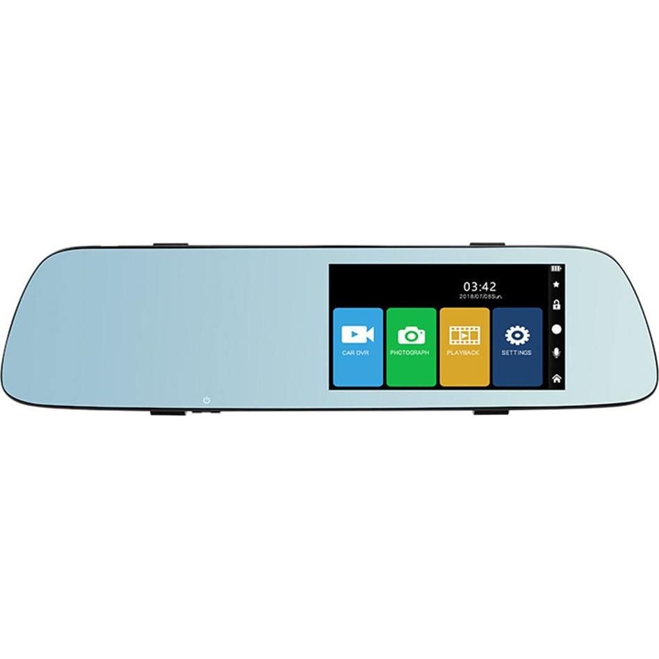 Fotografie Camera auto DVR PNI Voyager S2000 Full HD incorporata in oglinda retrovizoare 1080P 170 grade, 5 inch, touchscreen IPS, aplicat pe oglinda retrovizoare si camera de mers inapoi 120 grade VGA, mod noapte, mod parcare, slot card