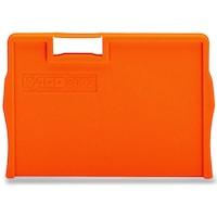 Capac capat pentru Clema rand Wago 4 mm² marita, portocaliu