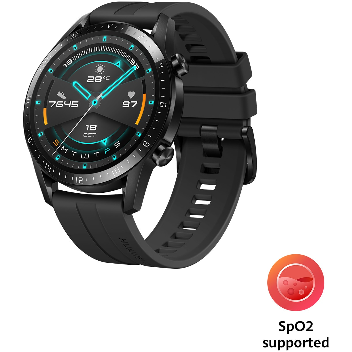 Fotografie Ceas Smartwatch Huawei Watch GT 2, 46mm, Matte Black