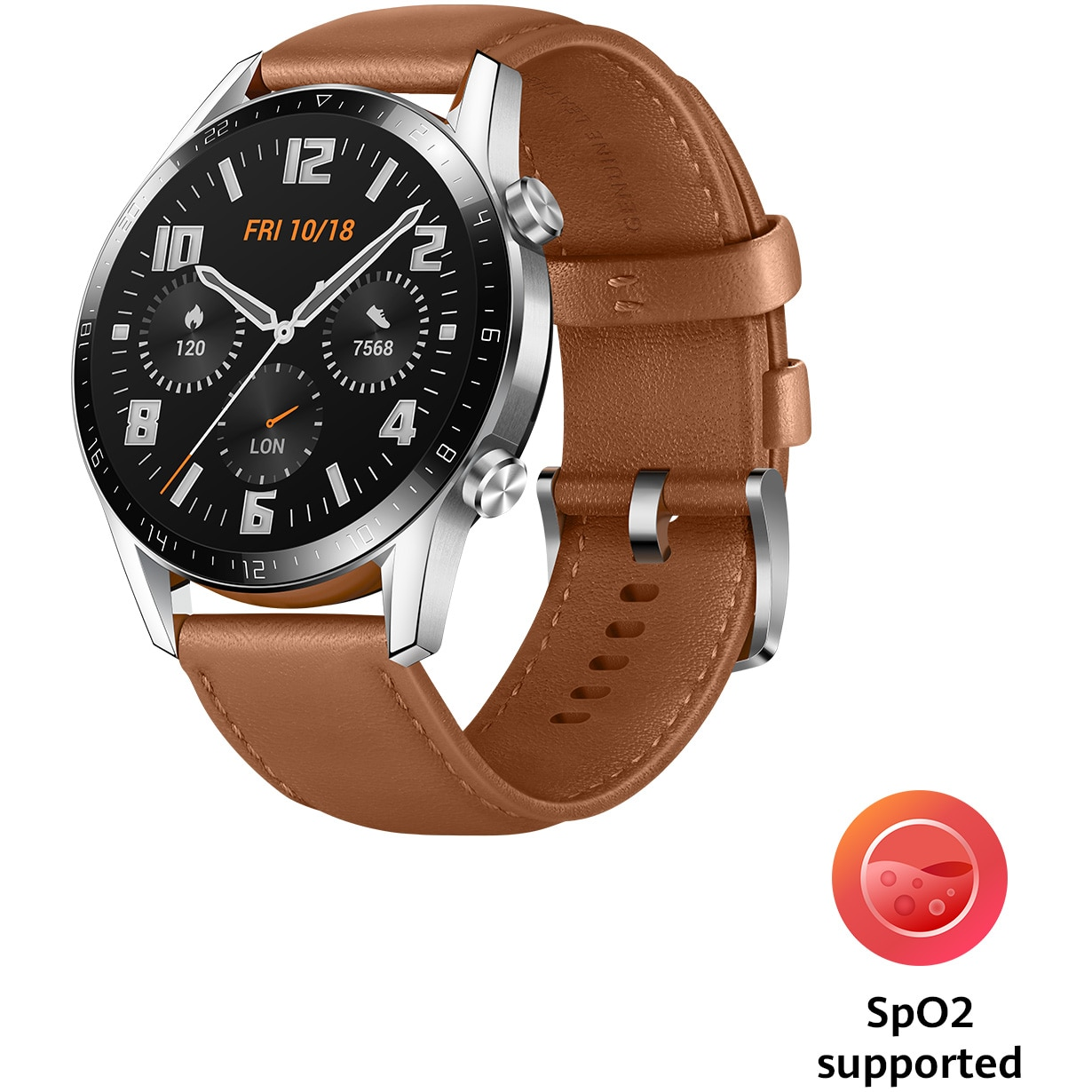 Fotografie Ceas Smartwatch Huawei Watch GT 2, 46mm, Pebble Brown