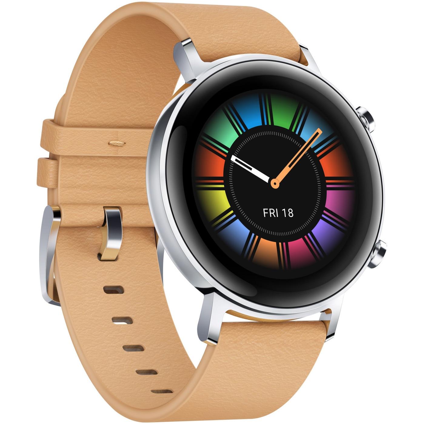 Fotografie Ceas Smartwatch Huawei Watch GT 2, 42mm, Gravel Beige