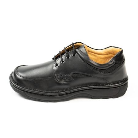 Pantofi casual barbati din piele naturala 345, OVISTIL, negru, 45 EU