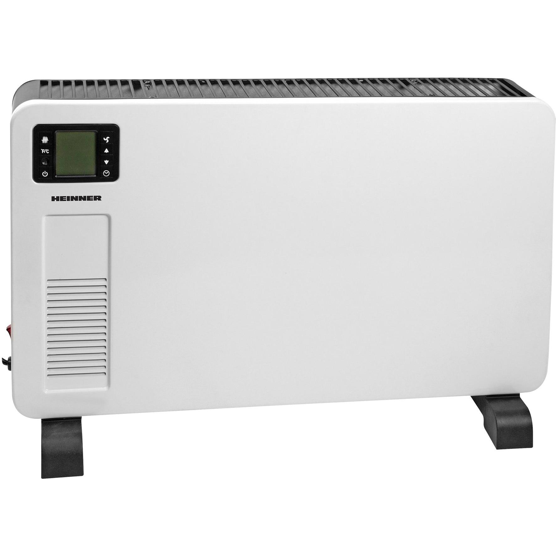 Fotografie Convector electric Heinner HCVH-Y2300D, 2300 W, display LCD, timer, termostat reglabil, protectie supraincalzire, alb