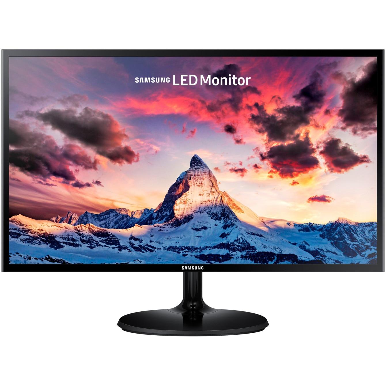 "Fotografie Monitor Gaming LED PLS Samsung 23.5"", Full HD, HDMI, FreeSync, Game Mode, Flicker Free, Slim, Negru, LS24F354FHU"