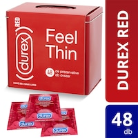 Durex Red Feel Thin csomag, 4x12 db