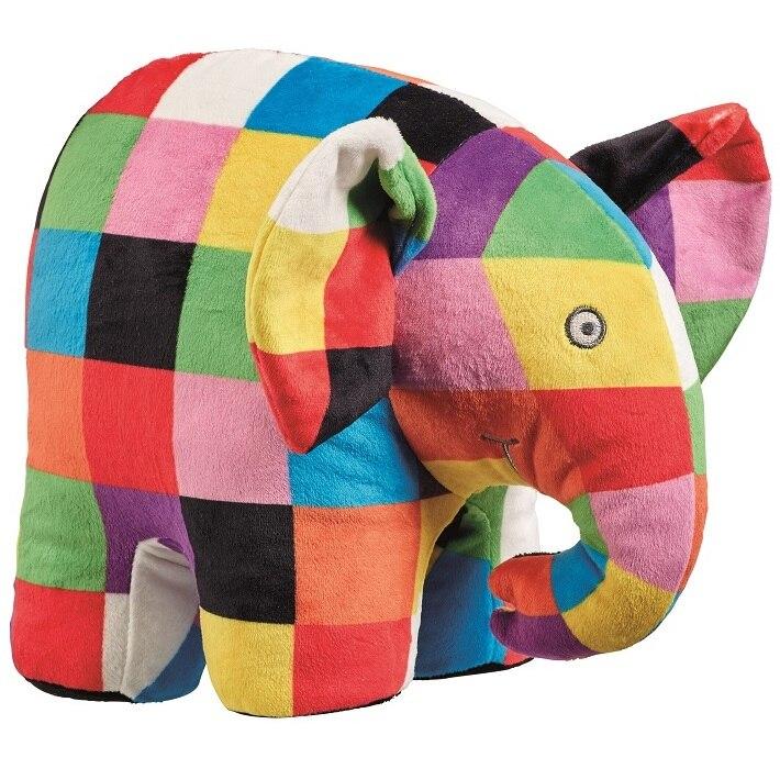 Fotografie Jucarie de plus Elefantul Elmer, interactiv, 20 cm