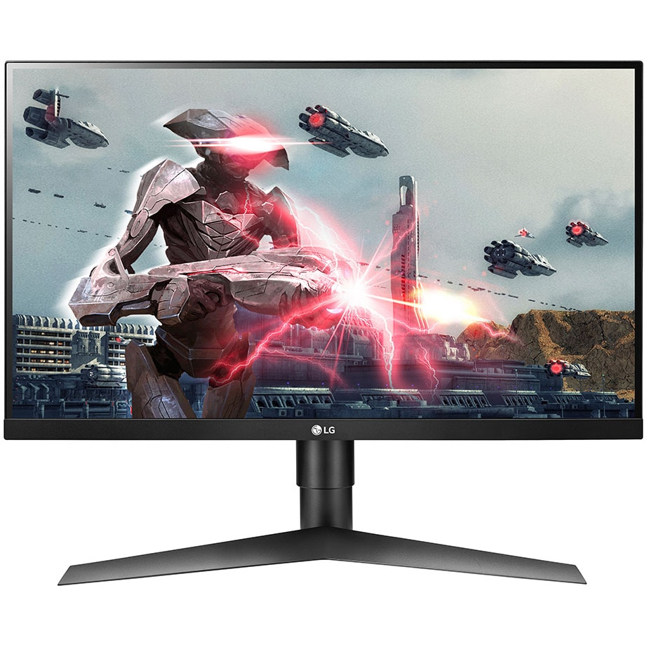 "Fotografie Monitor Gaming LED IPS LG 27"", Full HD, Display Port, 144Hz, G-Sync, FreeSync, Negru, Pivot, 27GL63T"