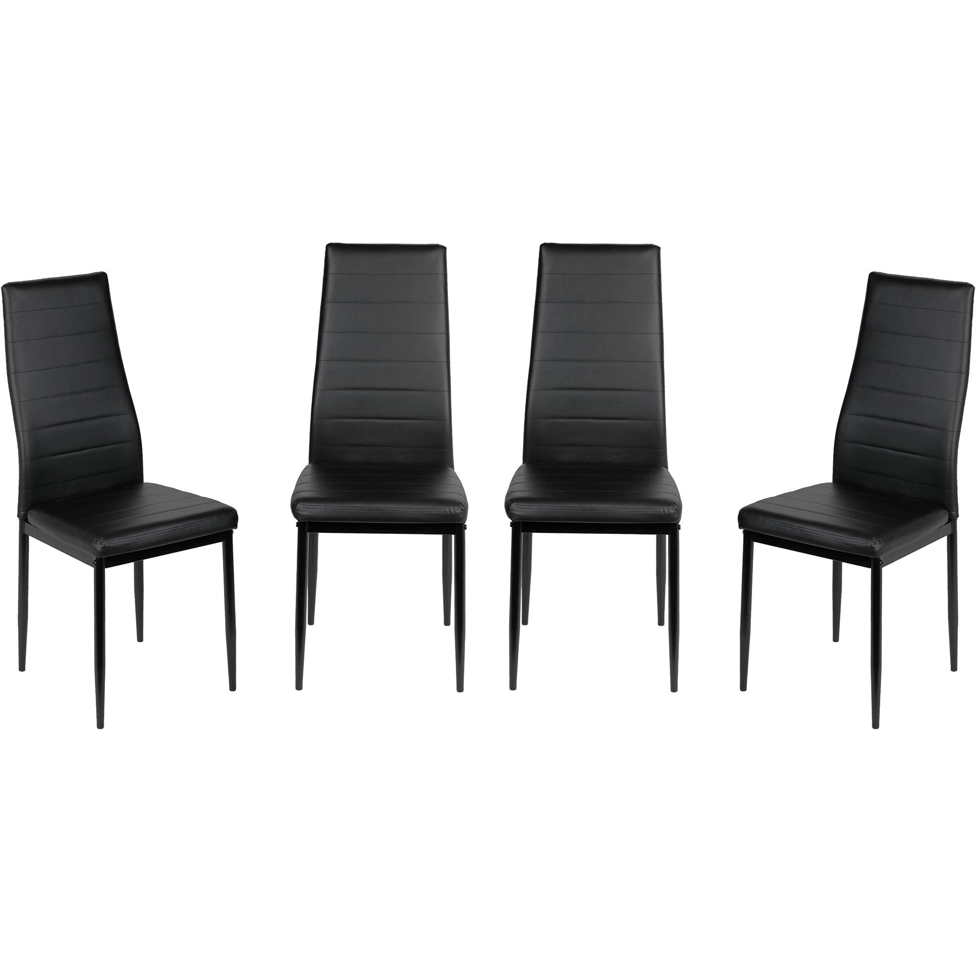 Fotografie Set 4 scaune bucatarie Kring Dublin, PU, Negru