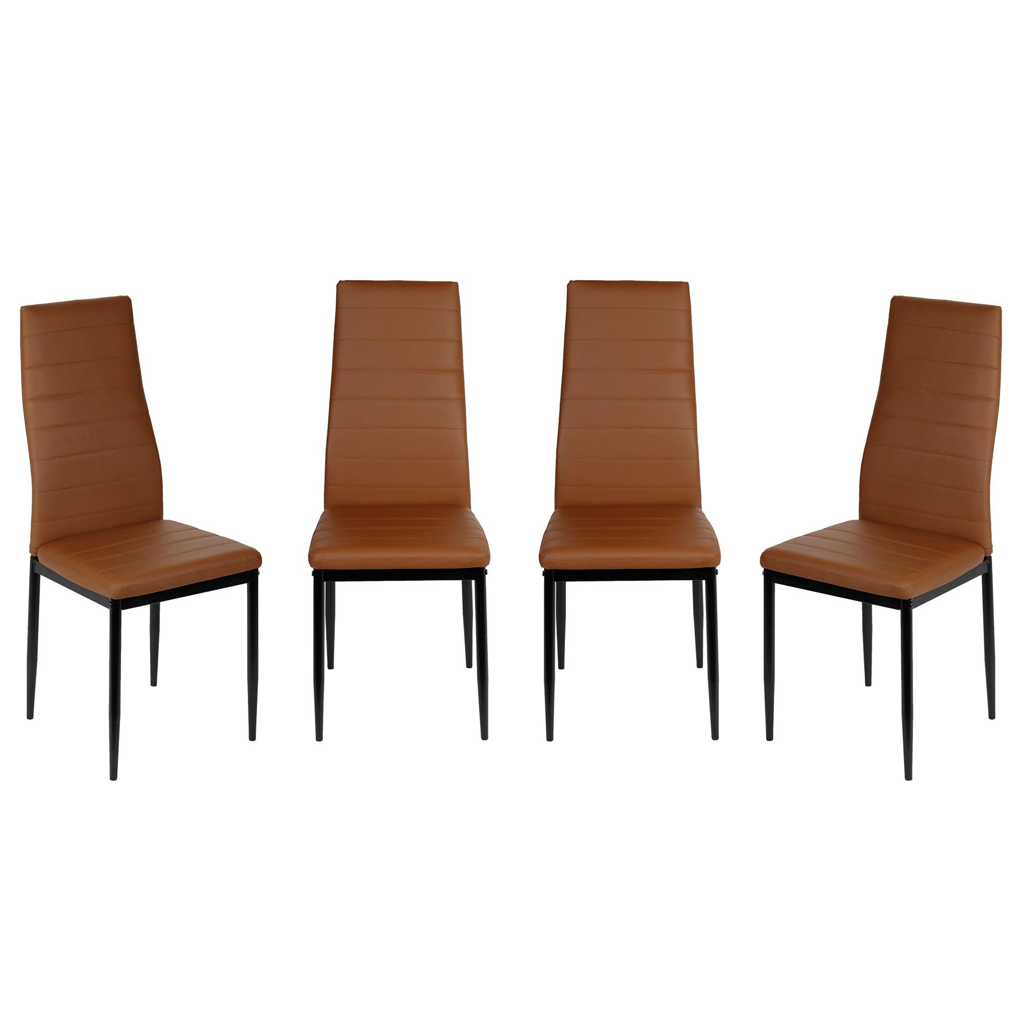 Fotografie Set 4 scaune bucatarie Kring Dublin, PU, Cappuccino