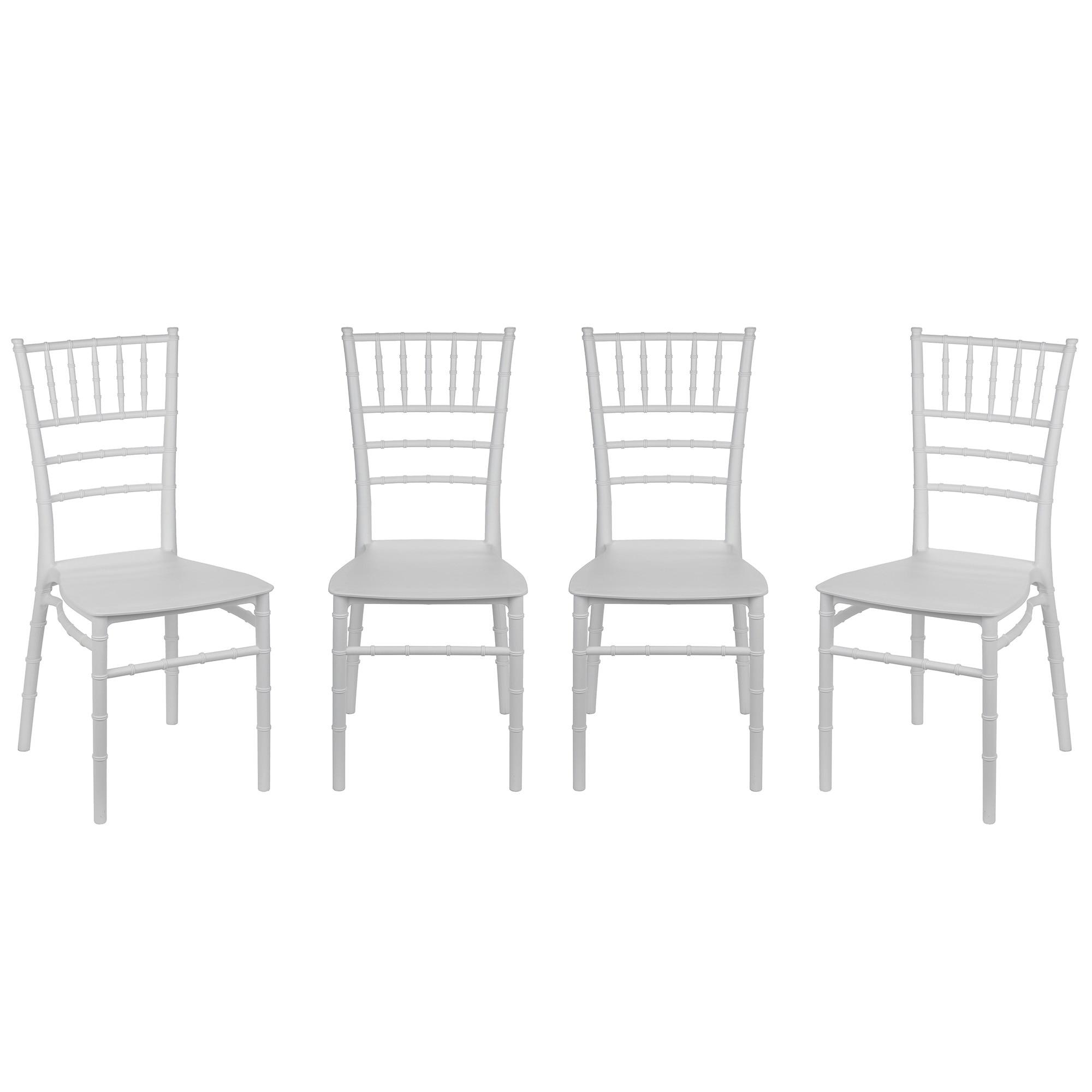 Fotografie Set 4 scaune evenimente Kring, PP, Alb