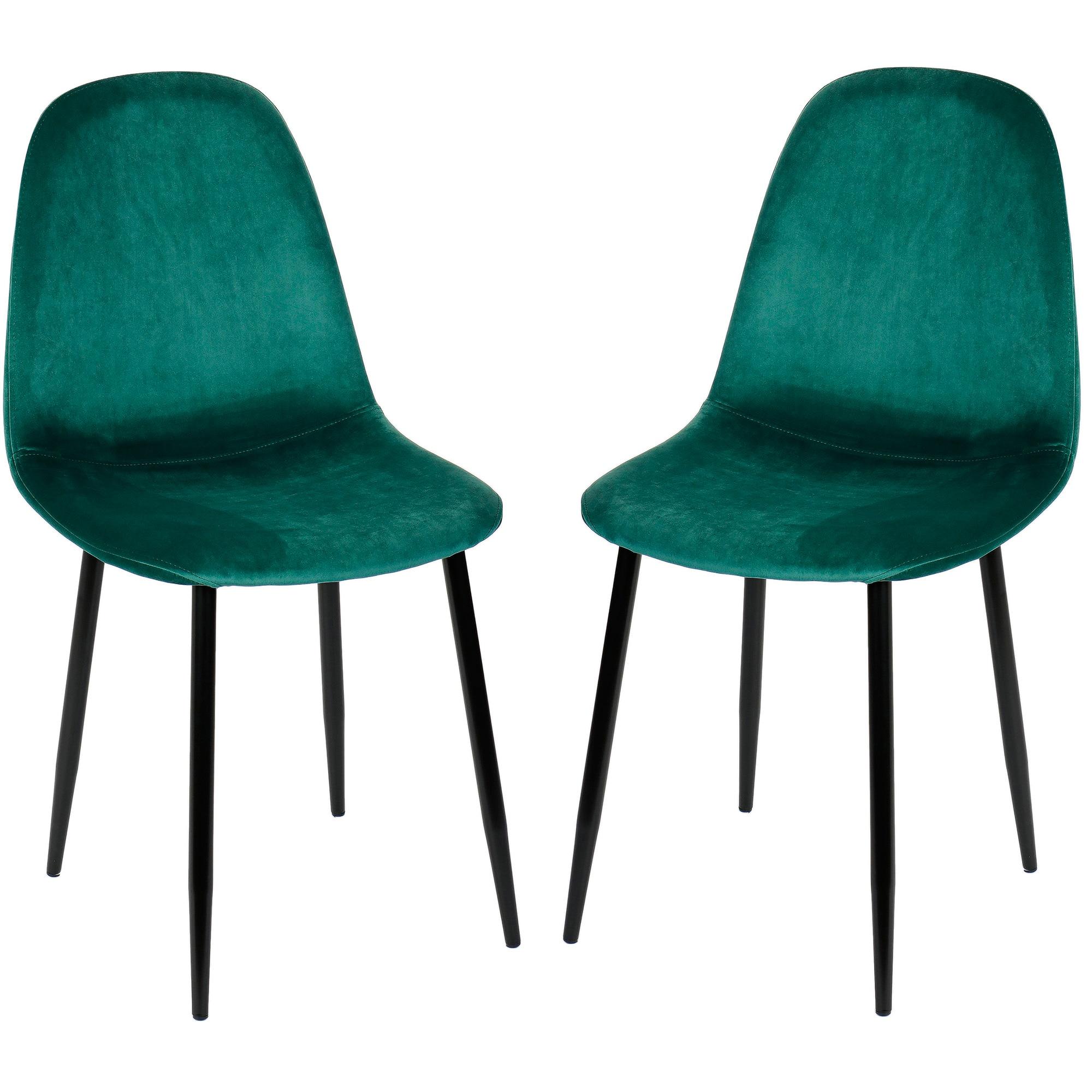 Fotografie Set 2 scaune Kring Miles, material textil, Verde Smarald