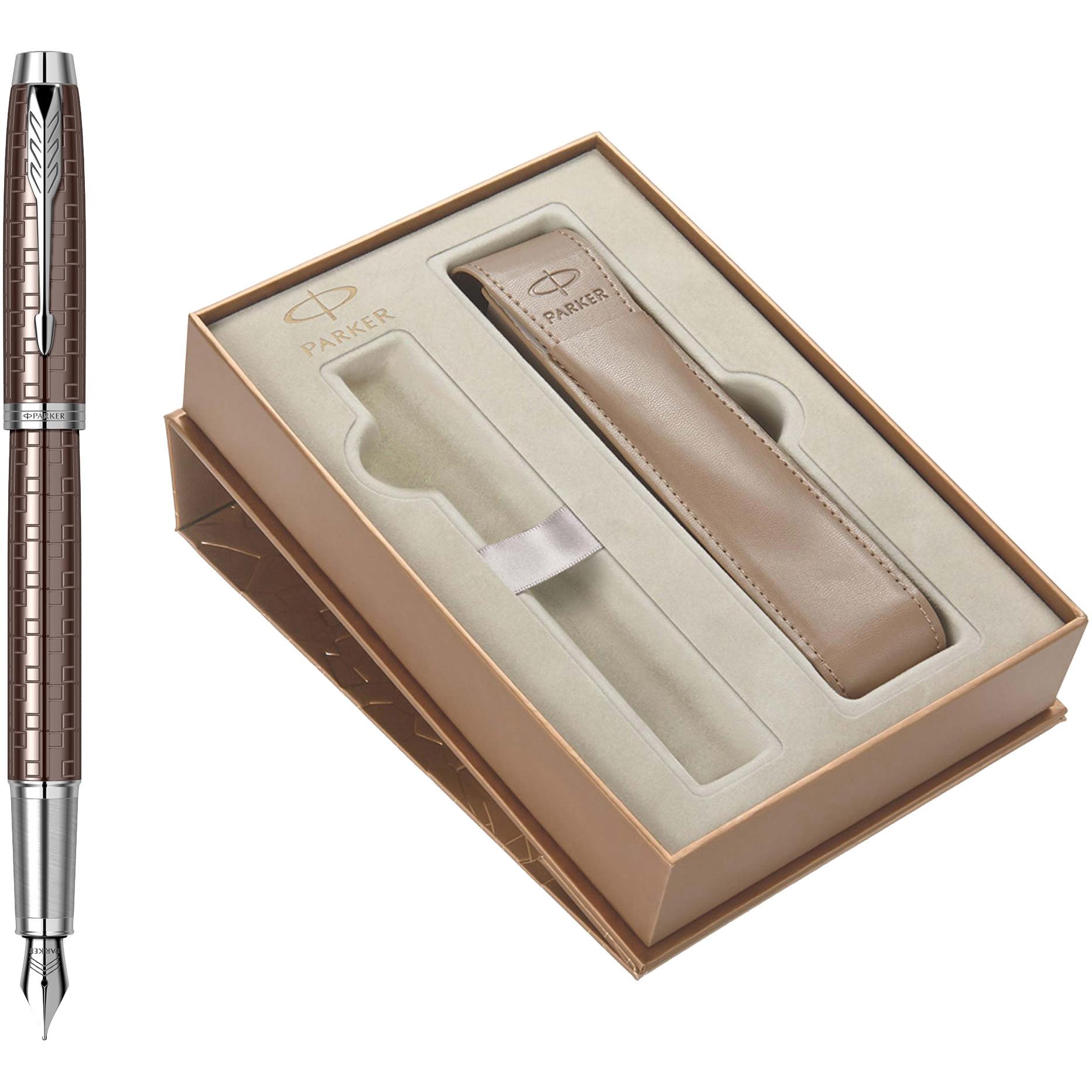Fotografie Set Stilou Parker IM Premium Royal Brown in caseta de cadou cu etui