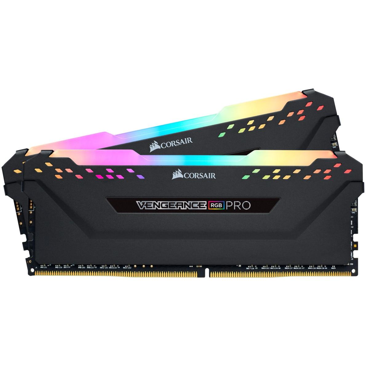 Fotografie Memorie Corsair Vengeance RGB PRO 16GB, DDR4, 3200MHz, CL16, Dual Channel Kit