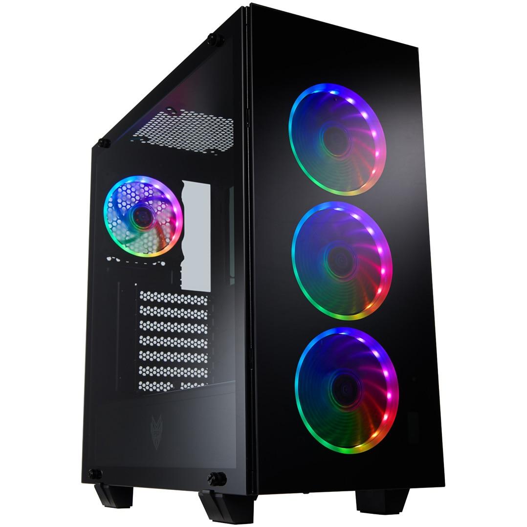 Fotografie Sistem Desktop Gaming Serioux cu procesor Intel® Core™ i9-9900K pana la 5.0GHz, 32GB DDR4, 2TB HDD, 1TB SSD M.2 PCIe, GeForce® RTX 2080 Ti 11GB GDDR6
