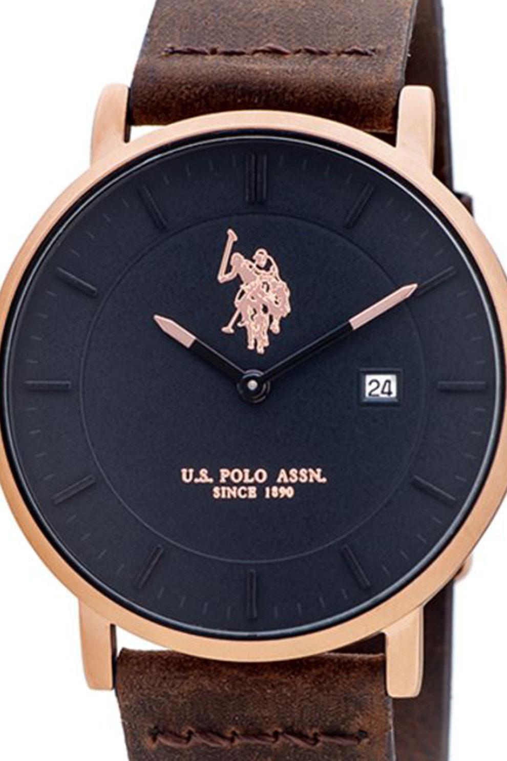 U.S. Polo Assn., Syroc kerek karóra szilikonszíjjal