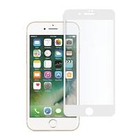 Стъклен протектор Full Glue за iPhone 7, Tempered Glass, Цялостно покритие и залепване, Бял