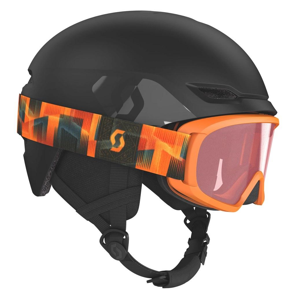 Fotografie Set ochelari ski + casca Scott Combo Hlmt Keeper 2+Jr Witty, Negru, M