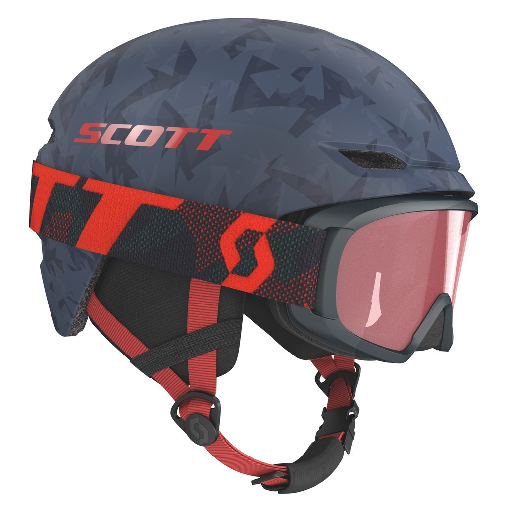 Fotografie Set ochelari ski + casca Scott Combo Hlmt Keeper 2+Jr Witty, Blue nights, S